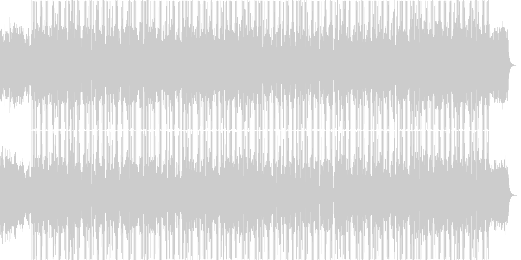 賑やかで楽しいクリスマスBGMの未再生の波形