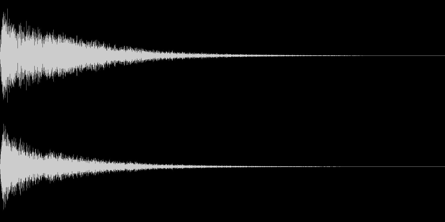 バーン~劇伴用の爆発音~の未再生の波形