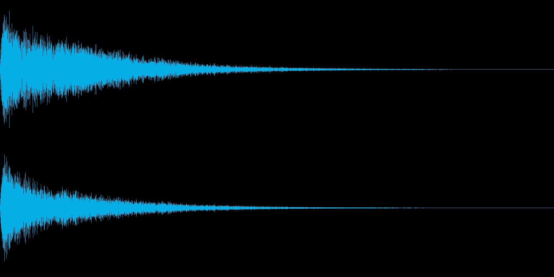 バーン~劇伴用の爆発音~の再生済みの波形