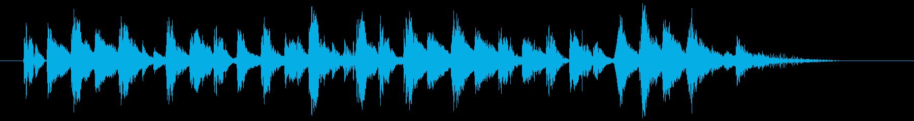 ラテン風の明るい曲の再生済みの波形