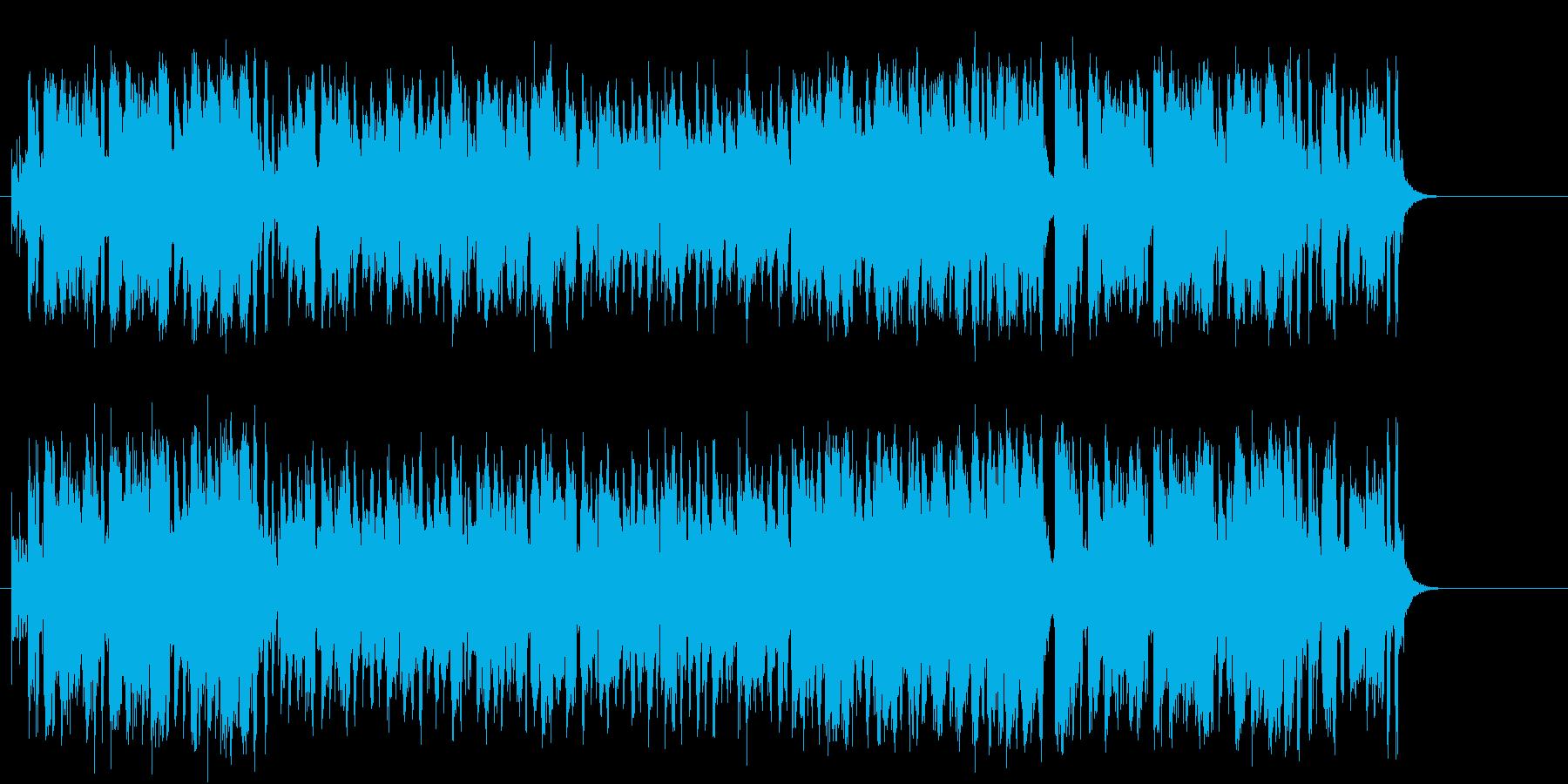 店内BG向けの陽気なデキシーランドジャズの再生済みの波形