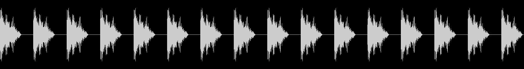 カタカタ音 カタカタした音 の未再生の波形