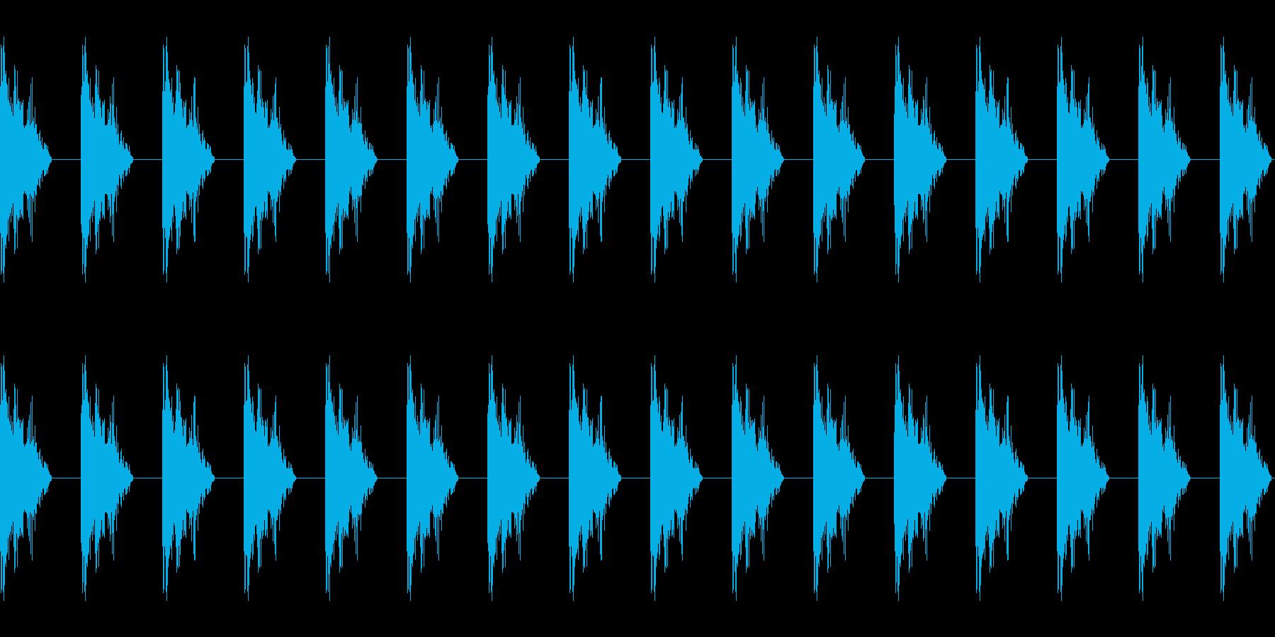 カタカタ音 カタカタした音 の再生済みの波形