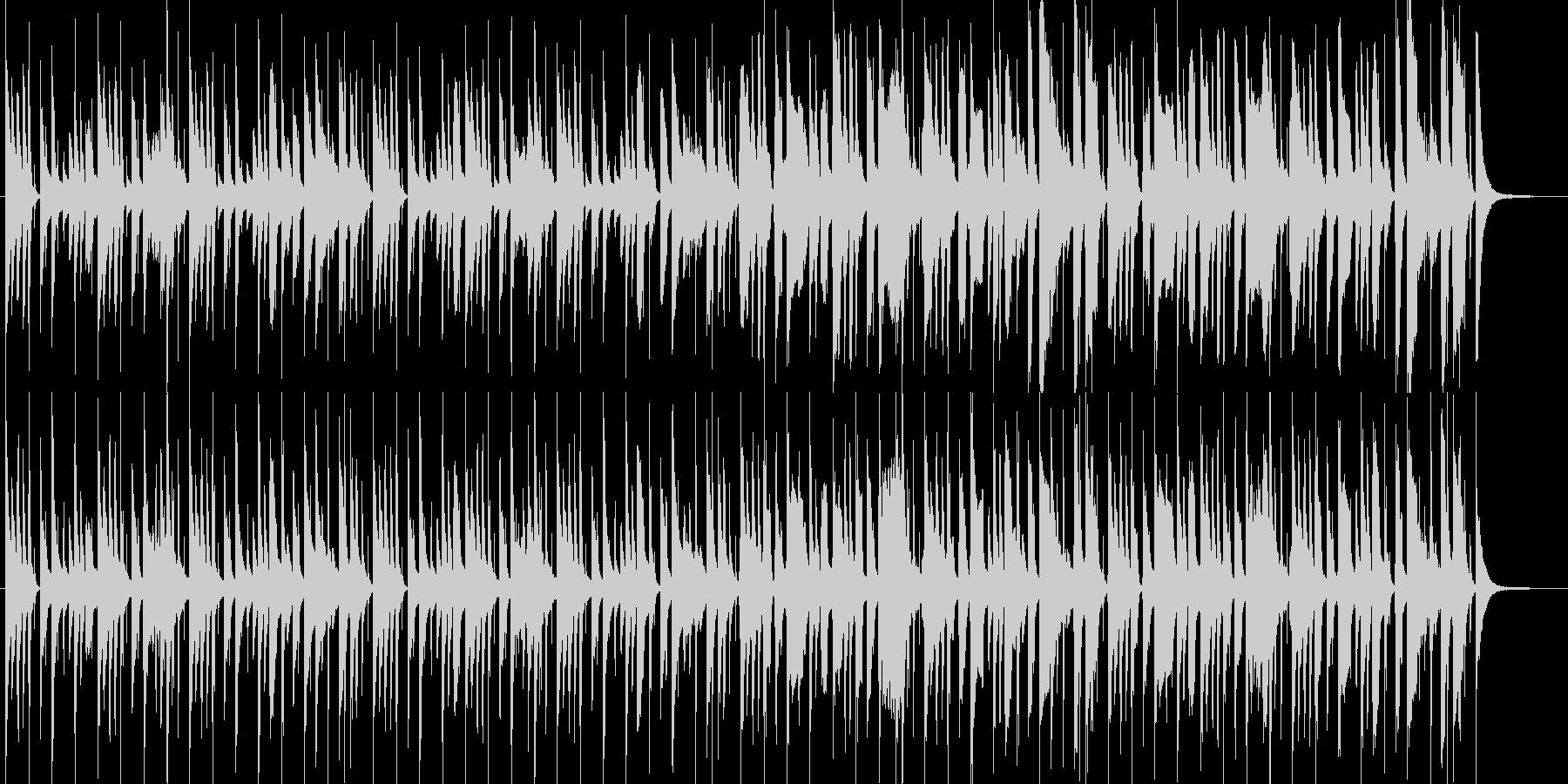天然おとぼけ系、とんちんかんな場面の劇伴の未再生の波形