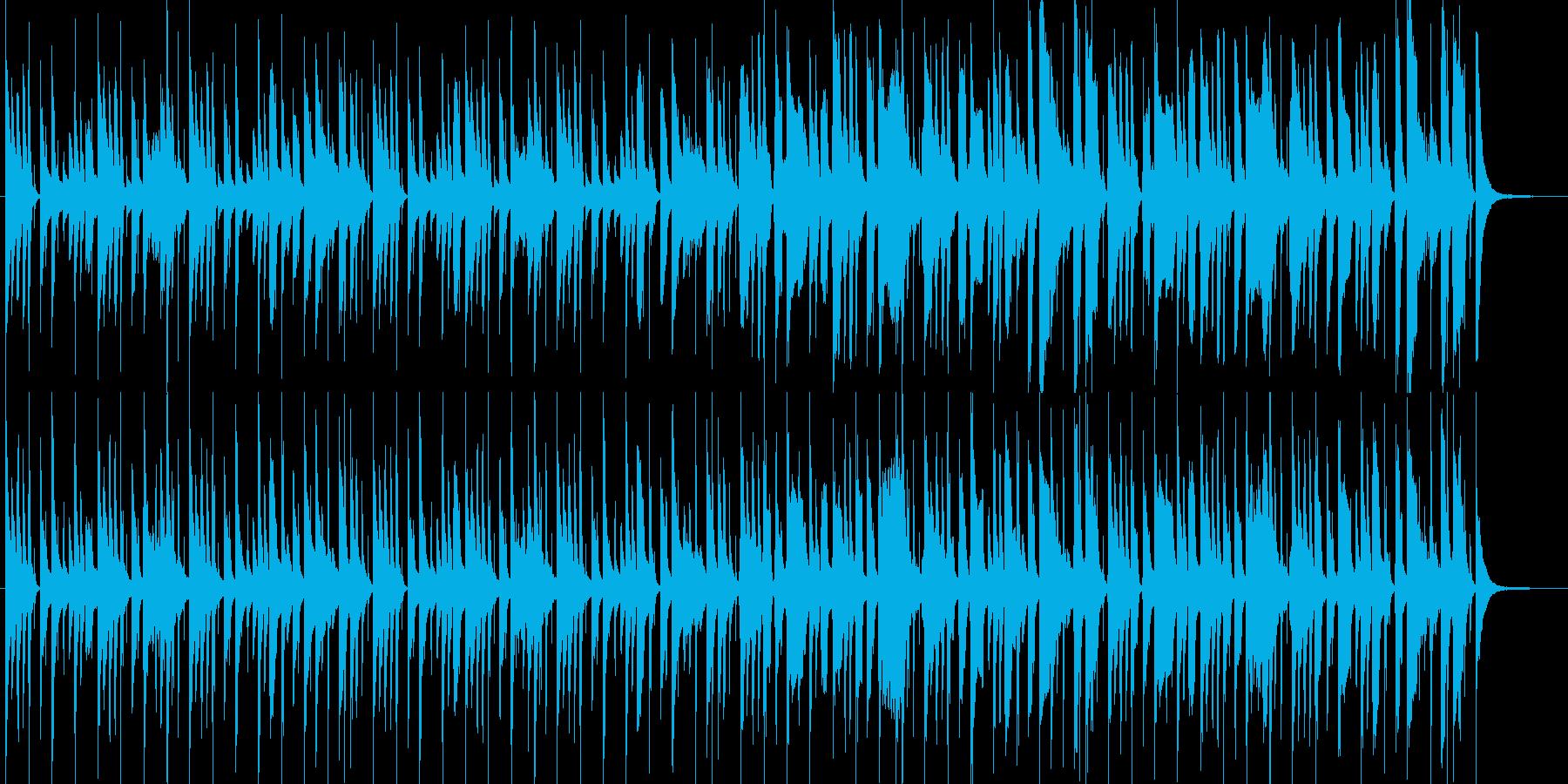 天然おとぼけ系、とんちんかんな場面の劇伴の再生済みの波形