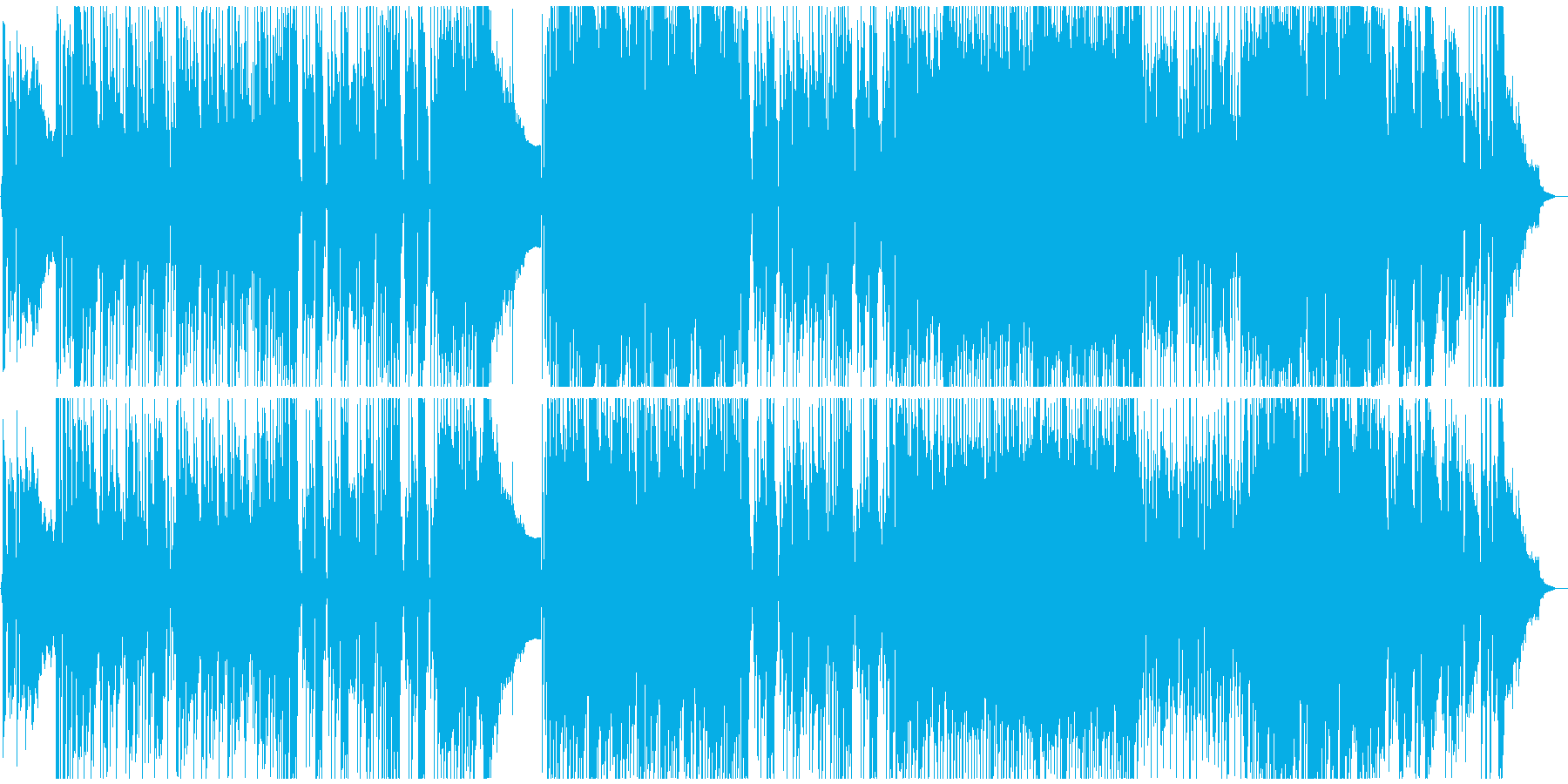 軽快なロック・ポップスの再生済みの波形