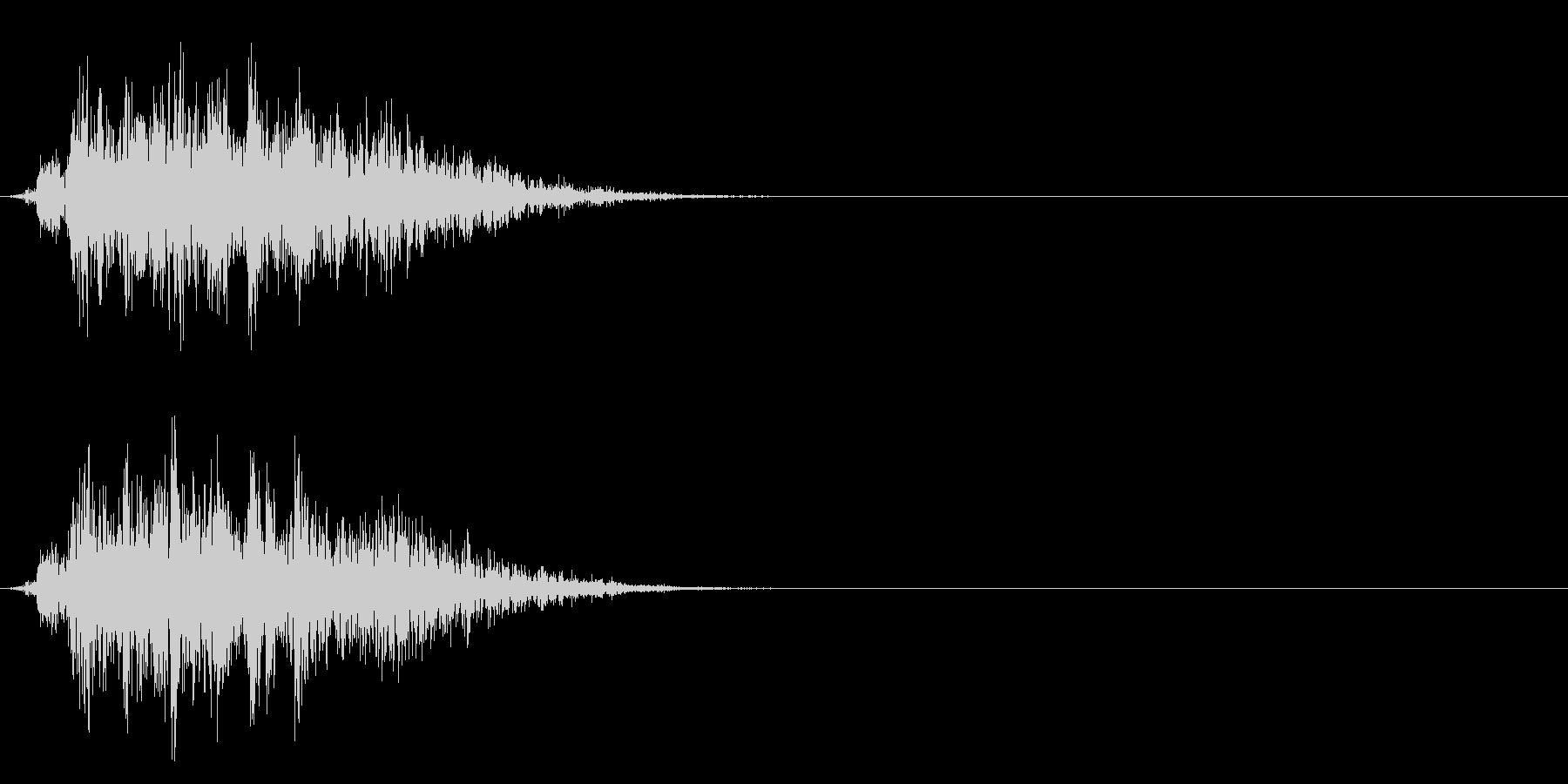 コミカルなダッシュ/ジャンプの効果音01の未再生の波形
