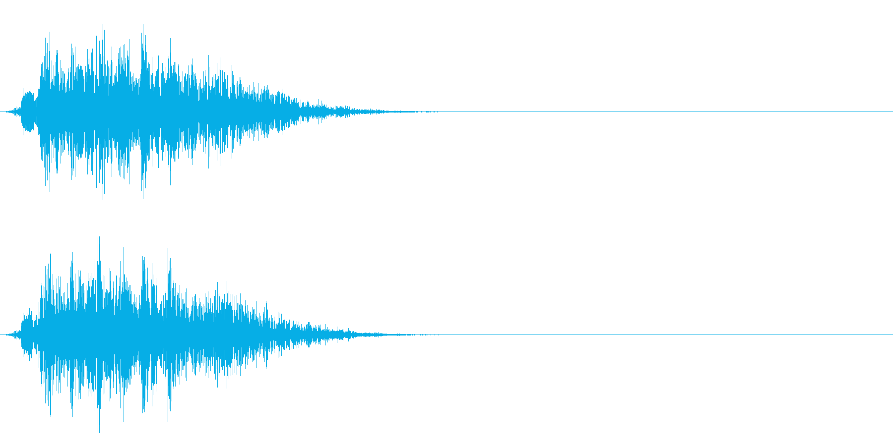 コミカルなダッシュ/ジャンプの効果音01の再生済みの波形
