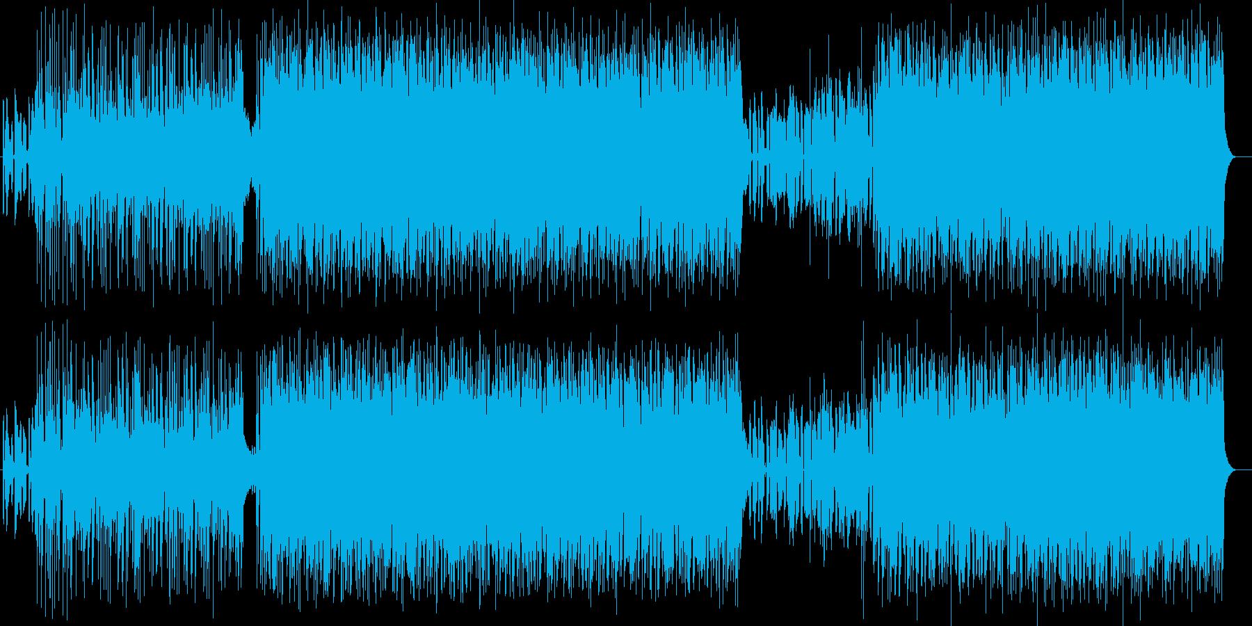 ヘビーでダークな重厚感あるエレキパンクの再生済みの波形