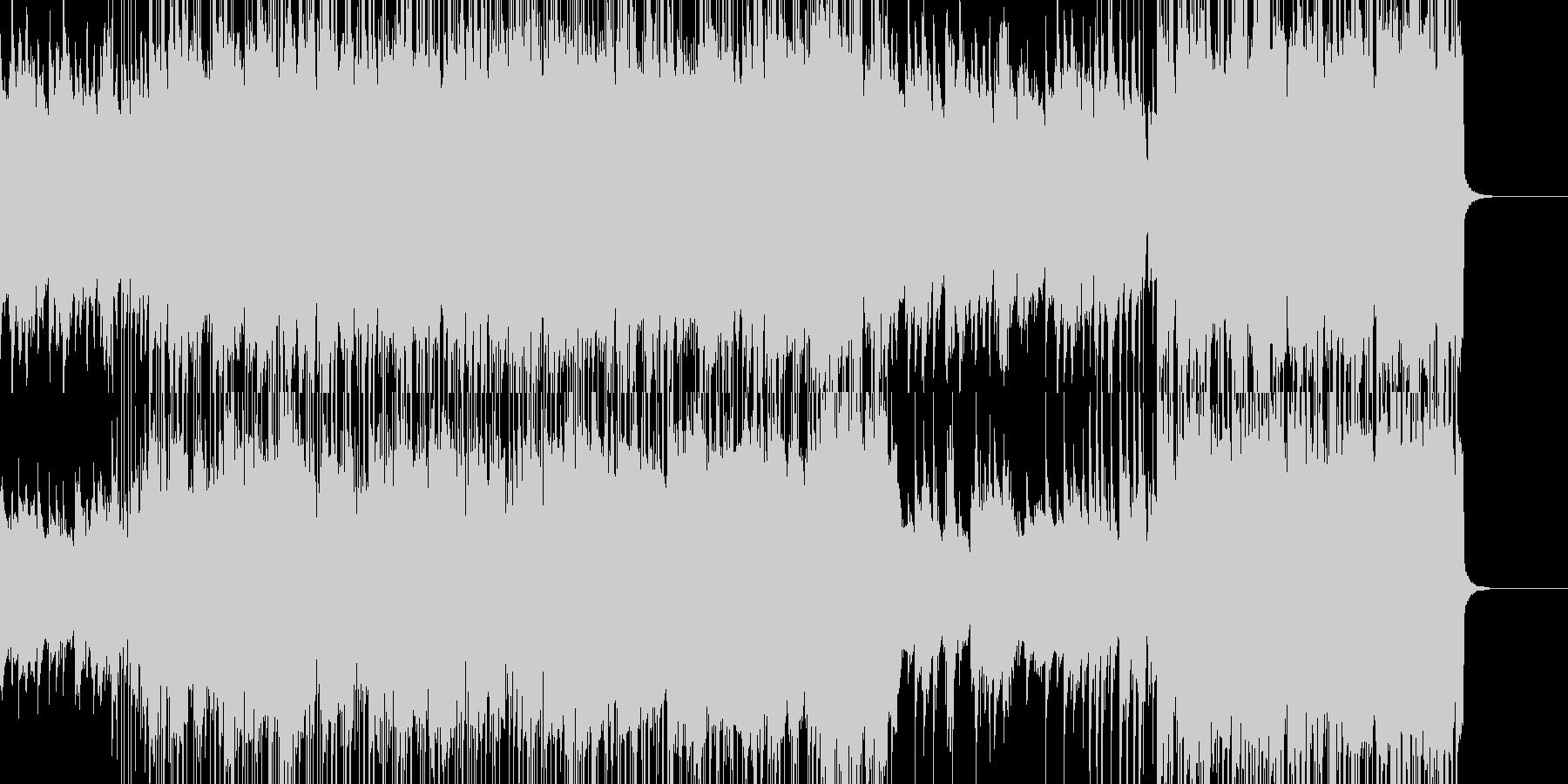 オシャレで爽やかなポップスの未再生の波形