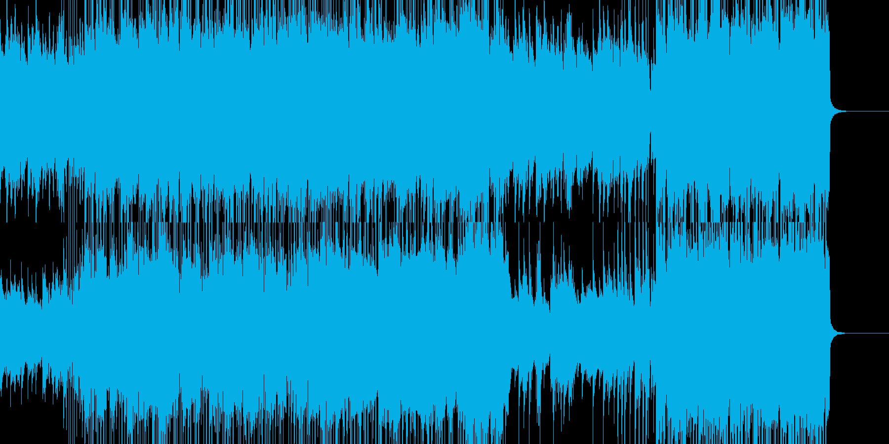 オシャレで爽やかなポップスの再生済みの波形