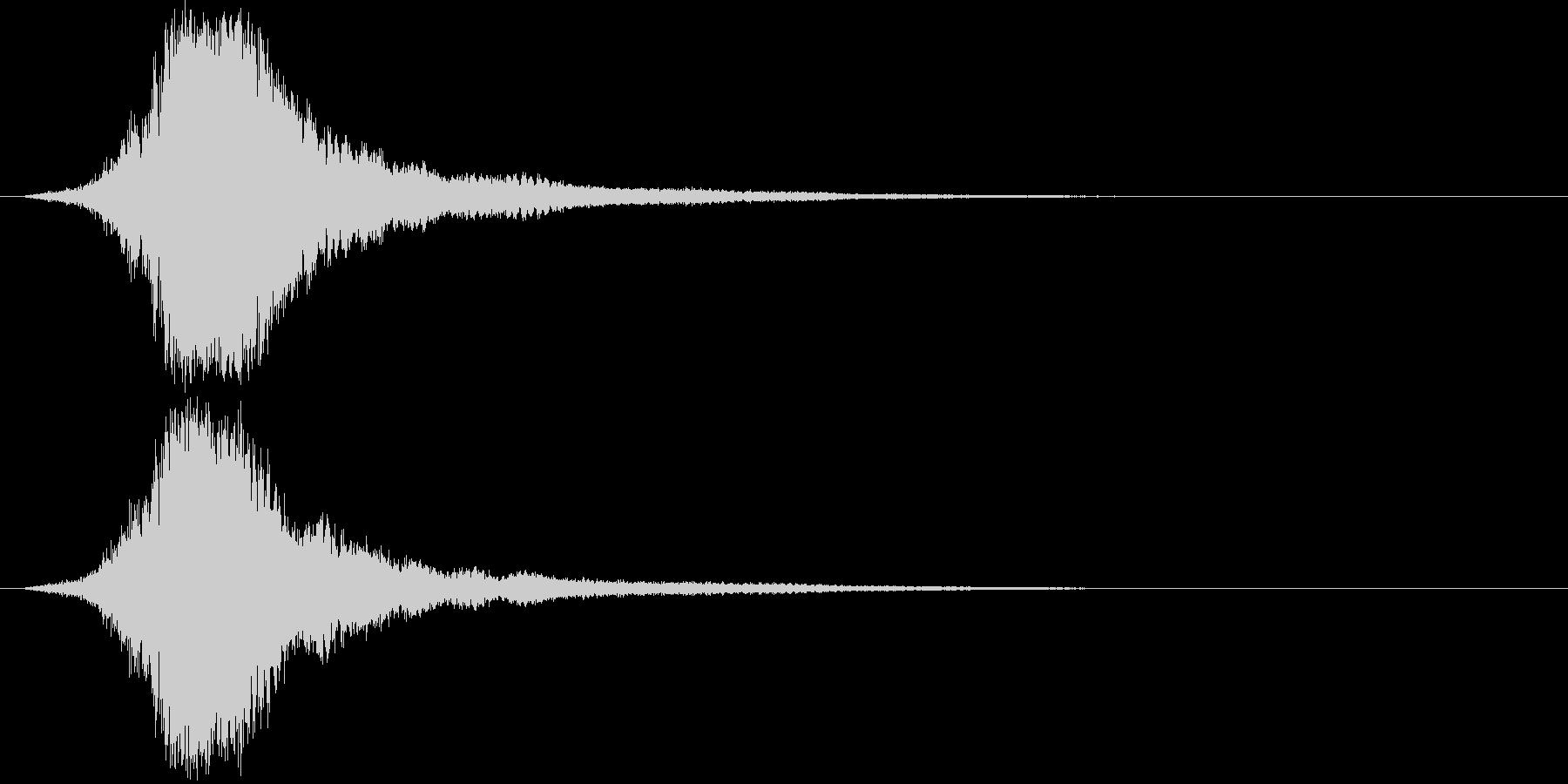 シャキーン 派手なインパクト音4の未再生の波形