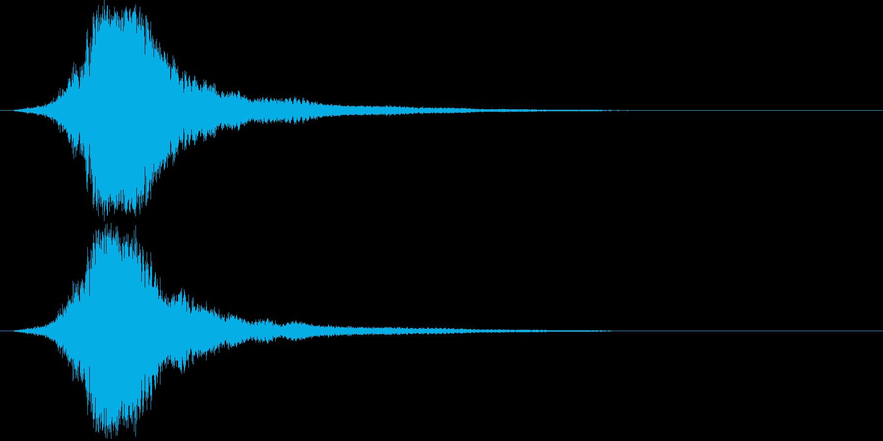 シャキーン 派手なインパクト音4の再生済みの波形