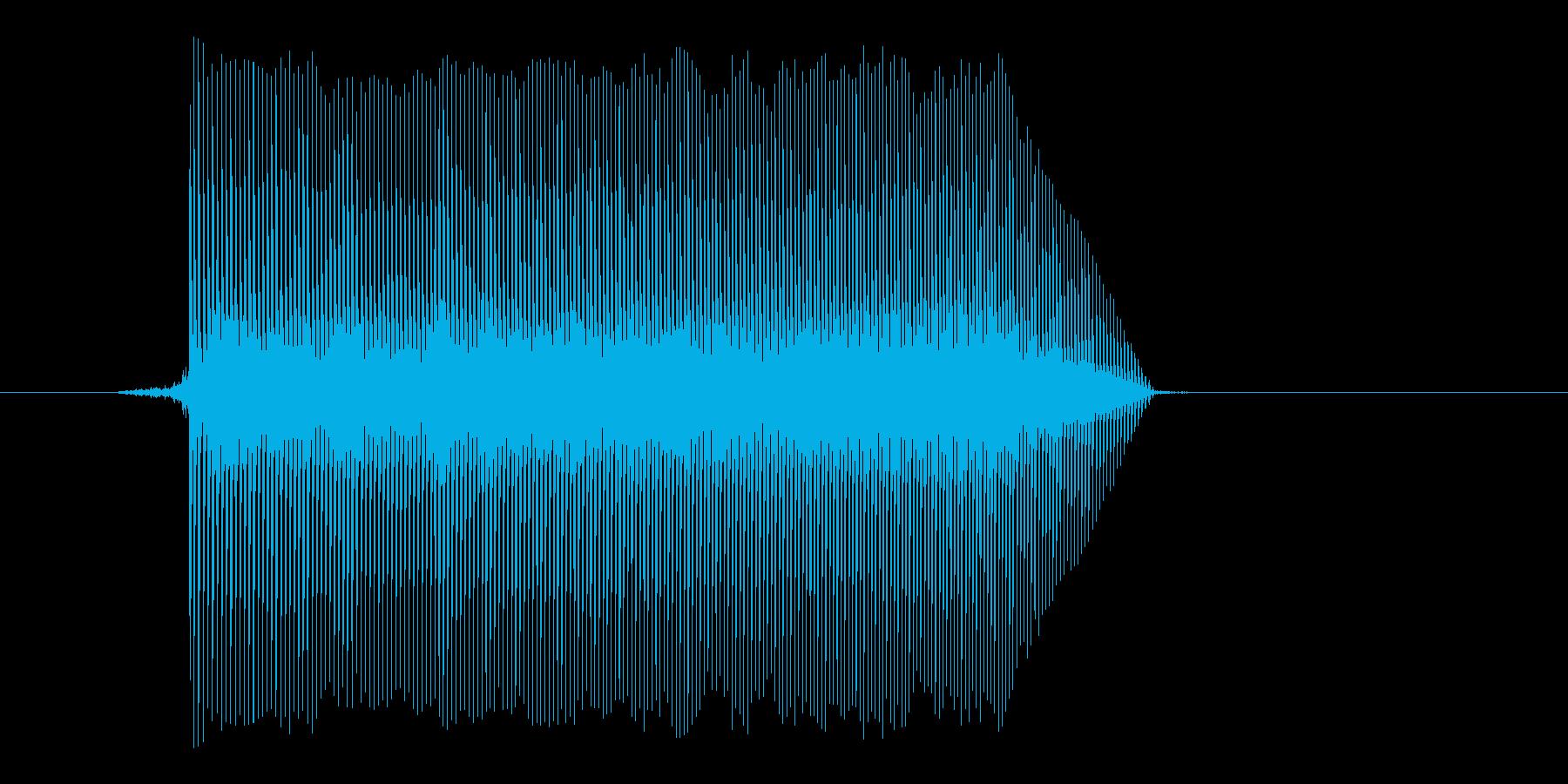 ゲーム(ファミコン風)ジャンプ音_029の再生済みの波形