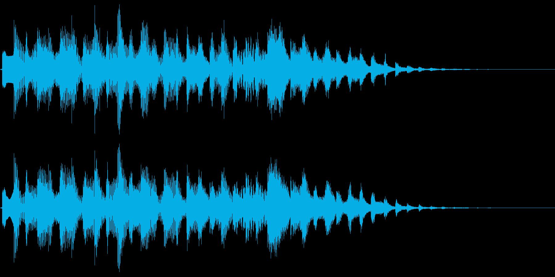 宇宙空間にいる様な近未来的サウンドロゴの再生済みの波形