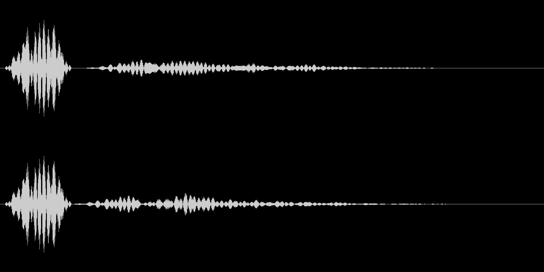 シンプルなキャンセル音1の未再生の波形