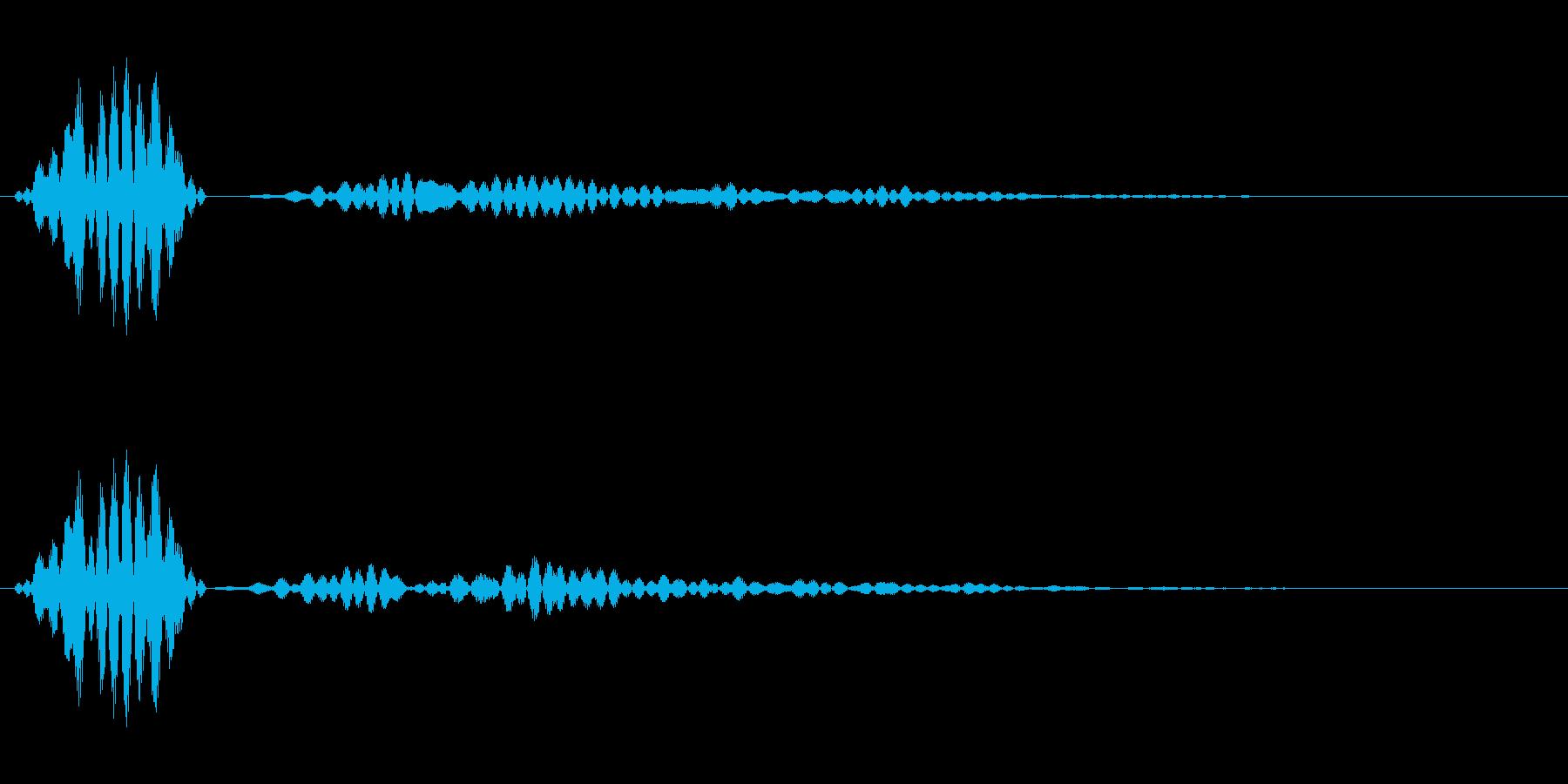 シンプルなキャンセル音1の再生済みの波形