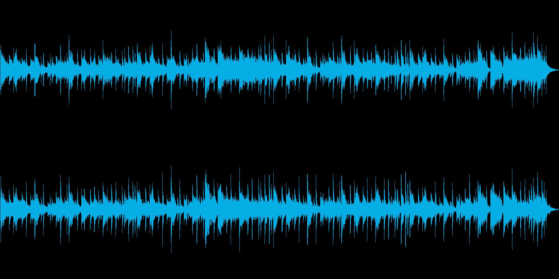緊張感のあるエキサイティングな曲の再生済みの波形