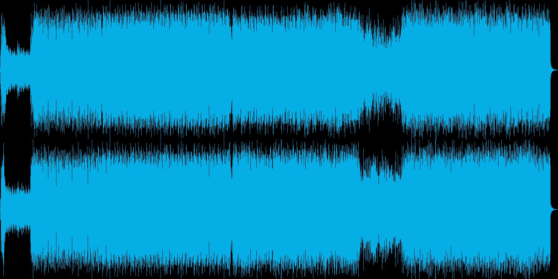 軽快で幻想的・浮遊感のあるビッグビートの再生済みの波形