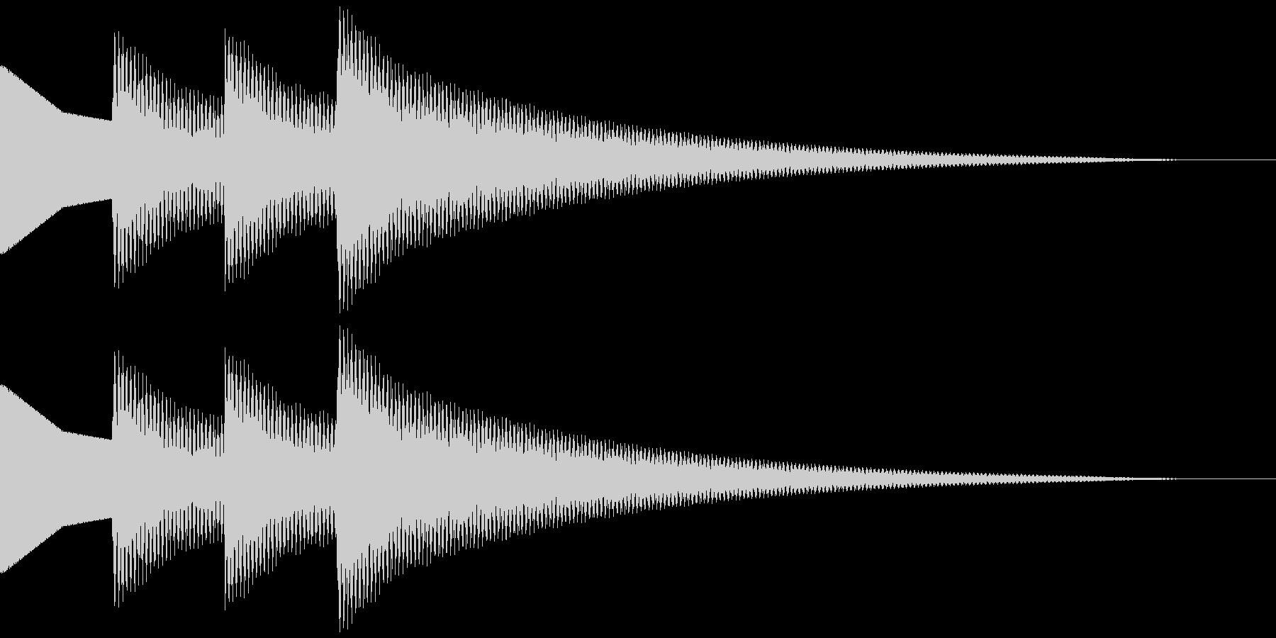 正解音 ピロピローン(スタンダード)の未再生の波形
