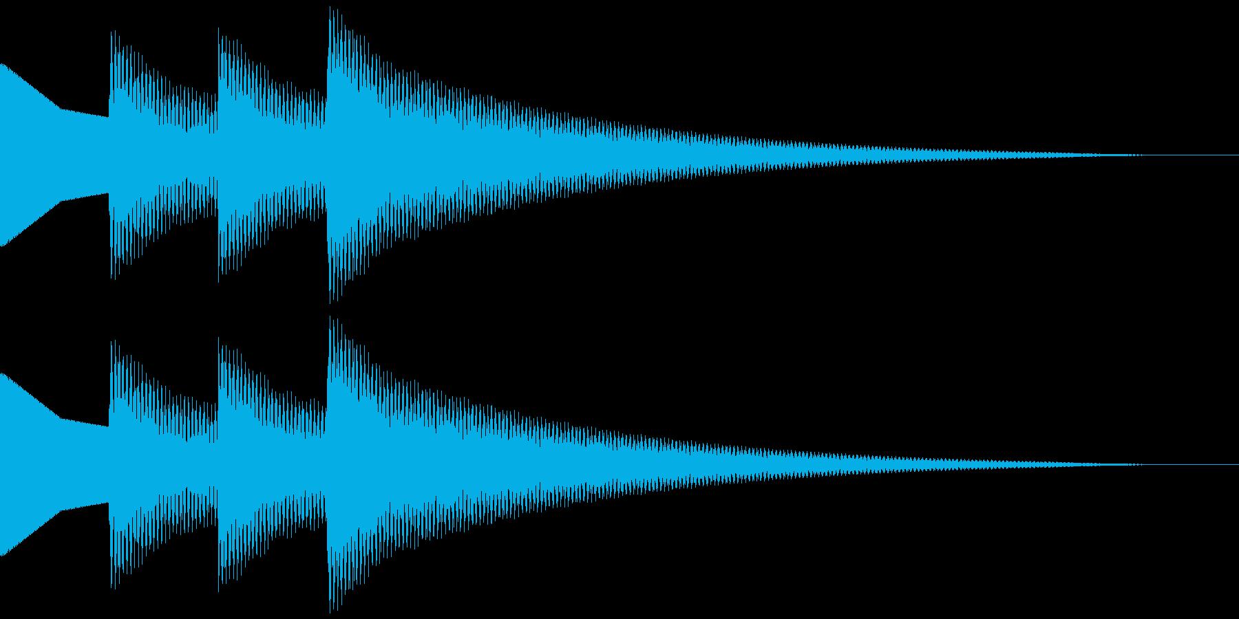 正解音 ピロピローン(スタンダード)の再生済みの波形