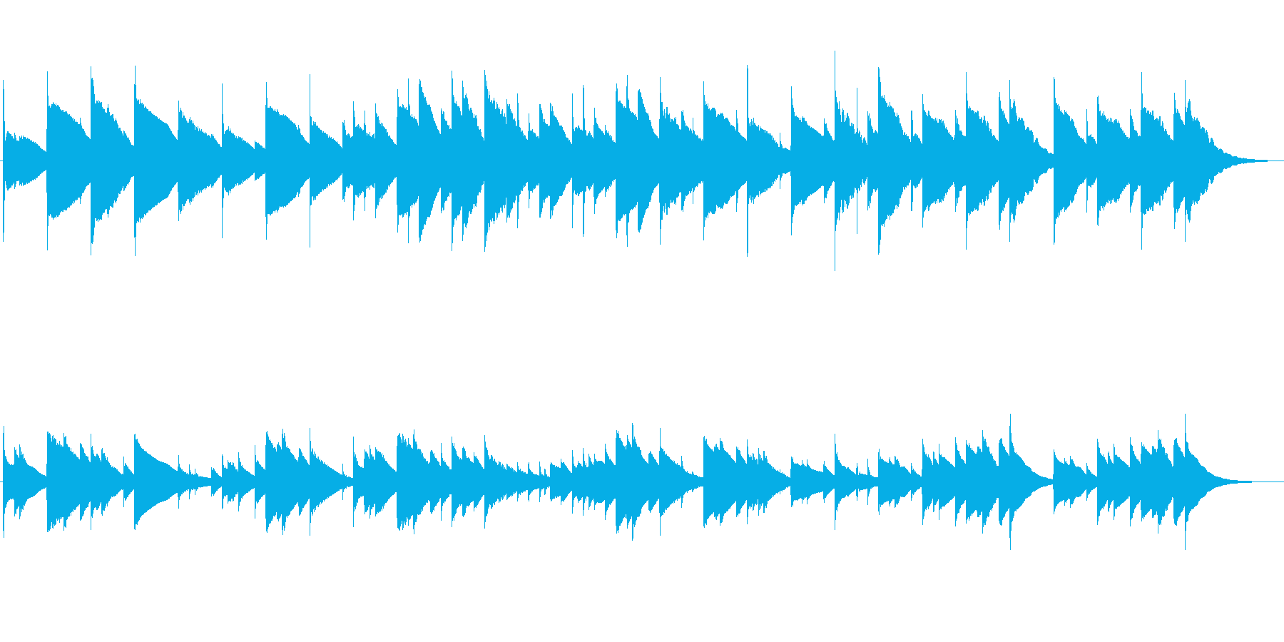 感動的な場面を想定した優しいチェレスタ曲の再生済みの波形