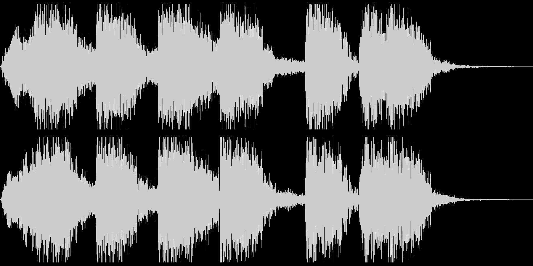 ラテンテイストのファンファーレの未再生の波形