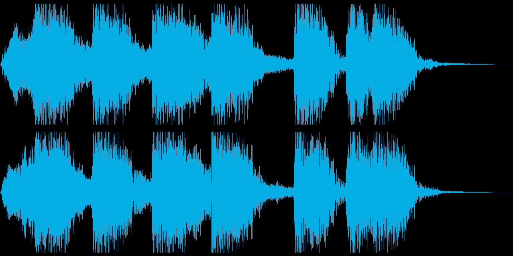 ラテンテイストのファンファーレの再生済みの波形