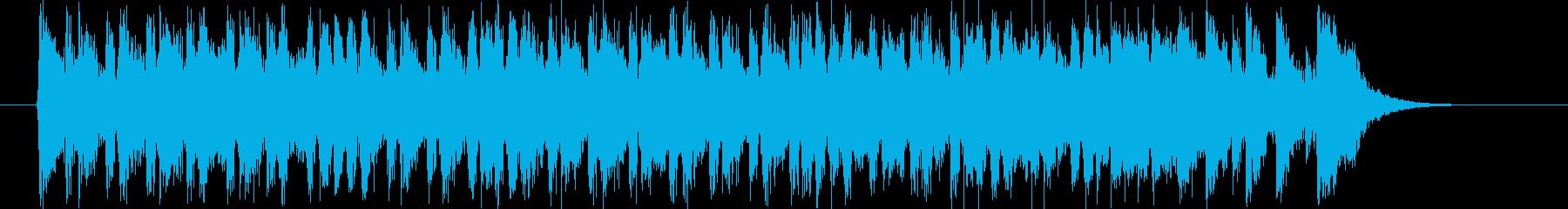 明るくドキドキ感のシンセギターサウンドの再生済みの波形