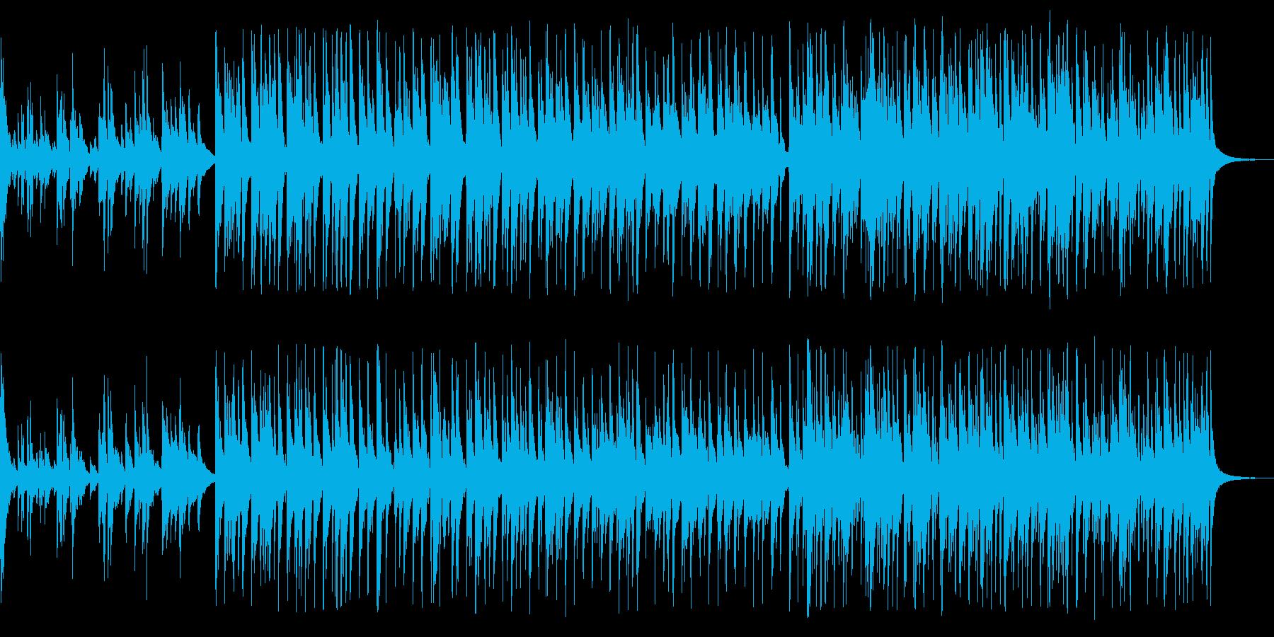 哀愁を感じる曲の再生済みの波形