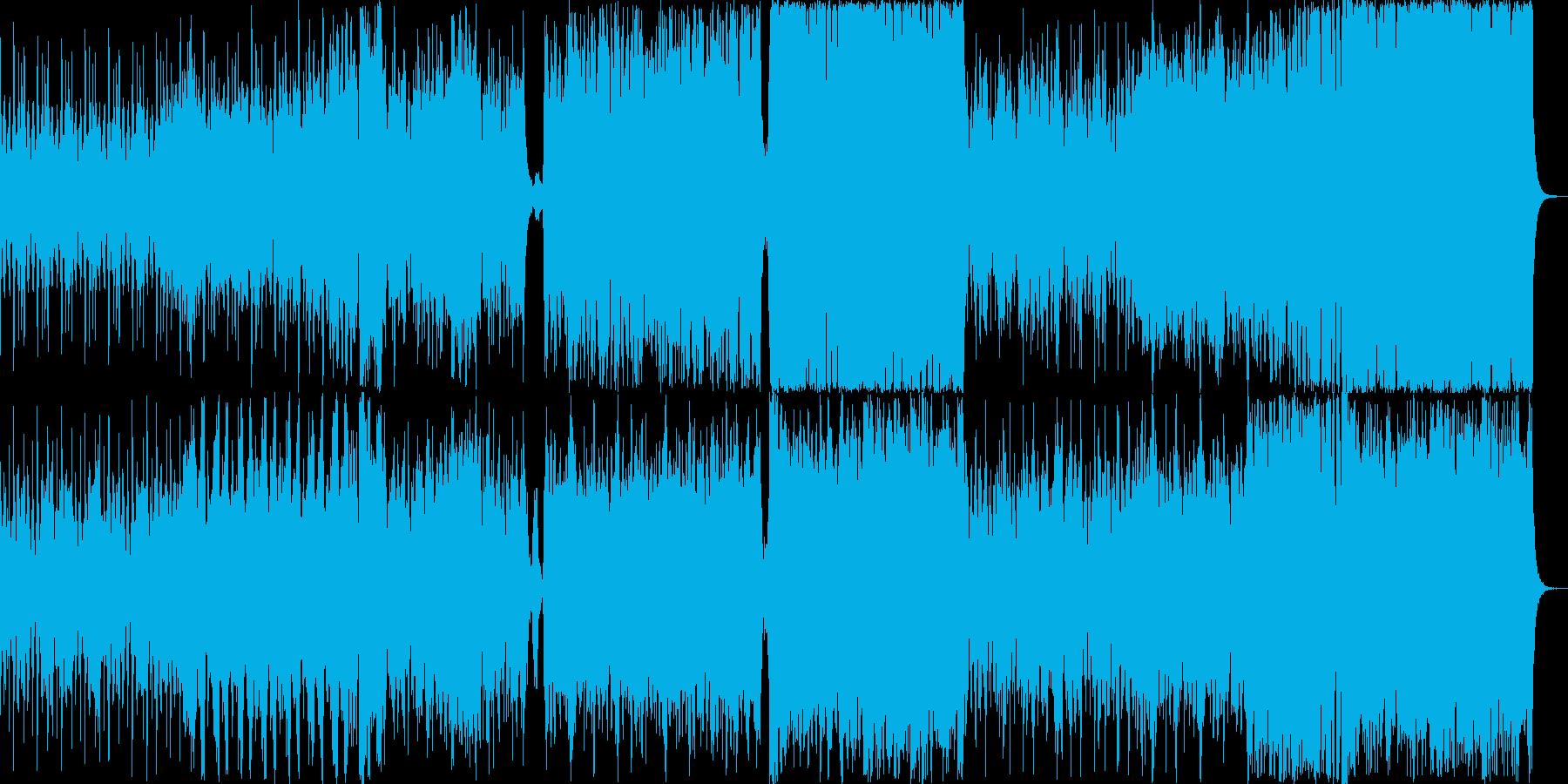 和楽器を中心にした激しいオーケストラ楽曲の再生済みの波形