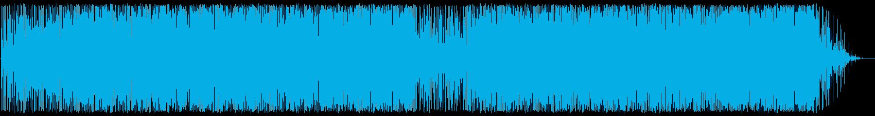 哀愁とムーディーなアコギとピアノBGMの再生済みの波形