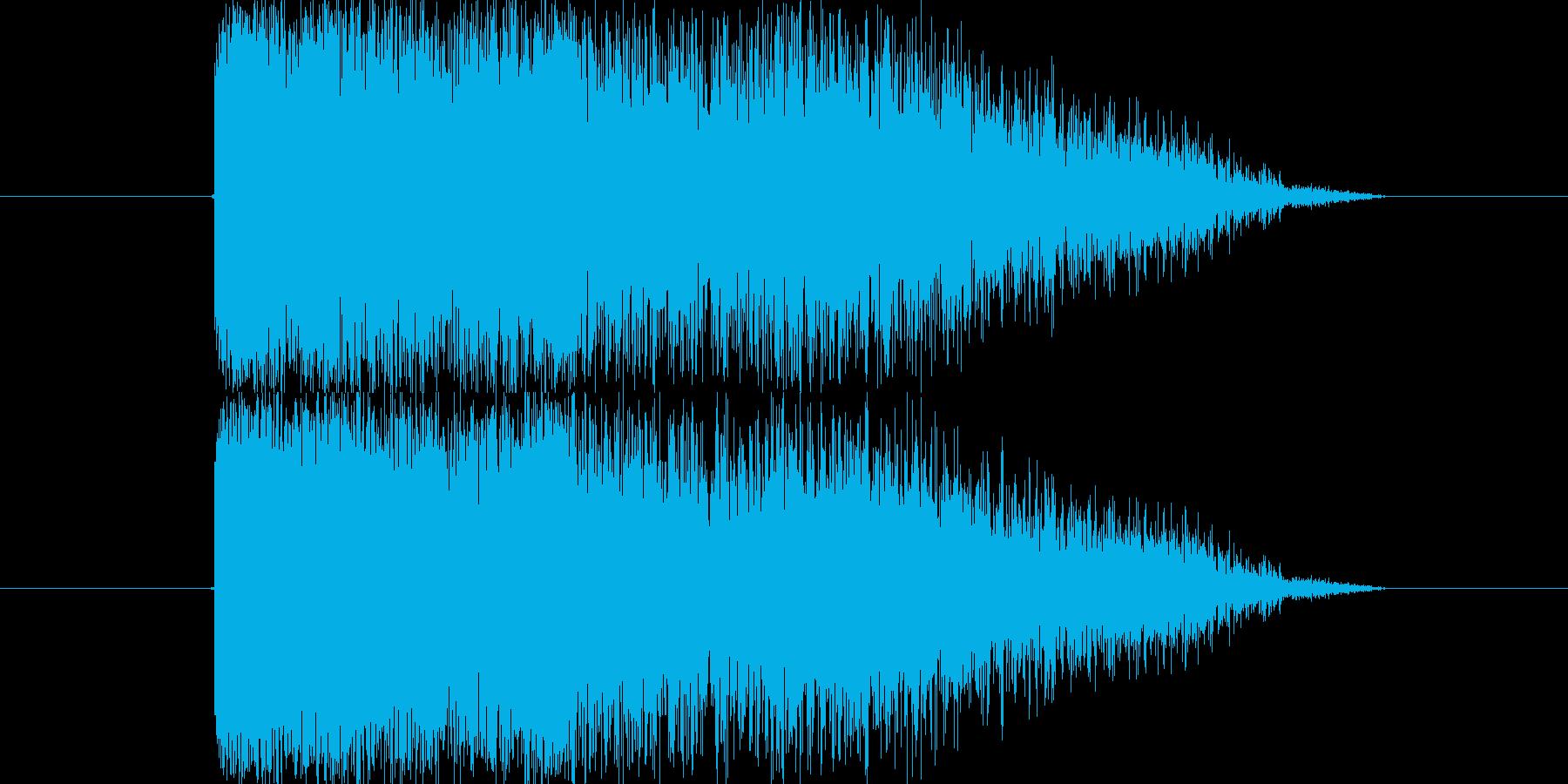 建物の倒壊SEです。EQ調整、音量調整…の再生済みの波形
