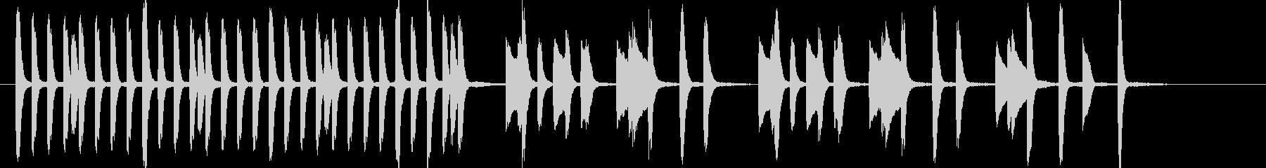 ほのぼの 日常の未再生の波形