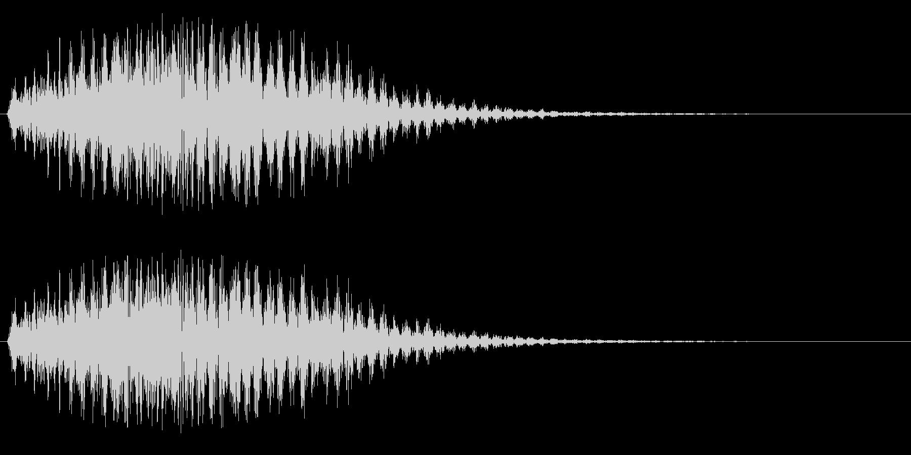 プルルルル(低速のファンタジー飛行音)の未再生の波形