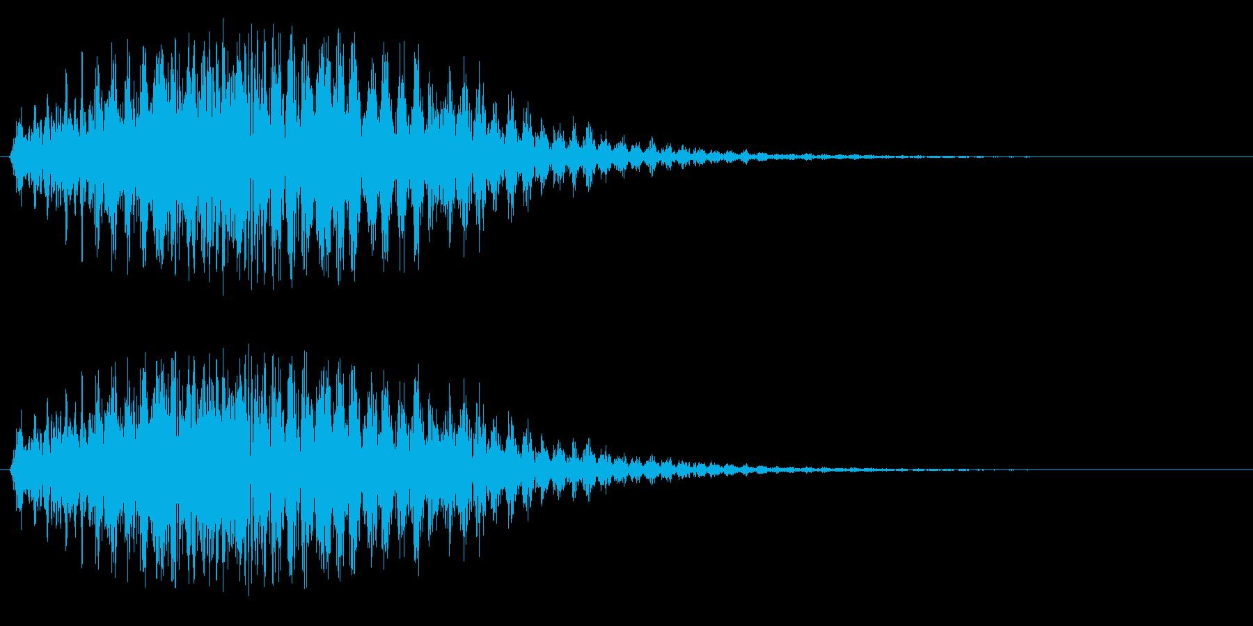 プルルルル(低速のファンタジー飛行音)の再生済みの波形