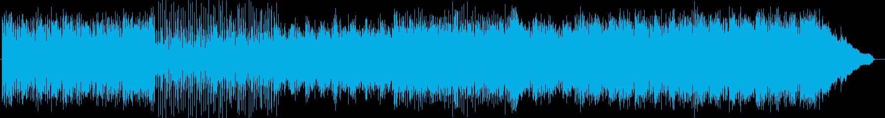 シンセサイザーによるさわやかなインストの再生済みの波形