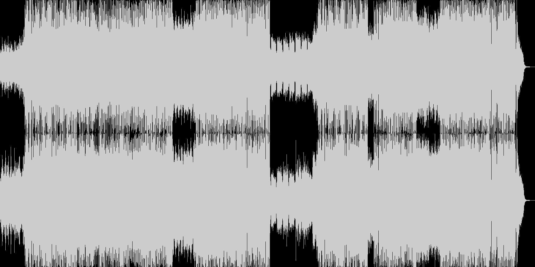 爽やかなピアノとバイオリンの未再生の波形