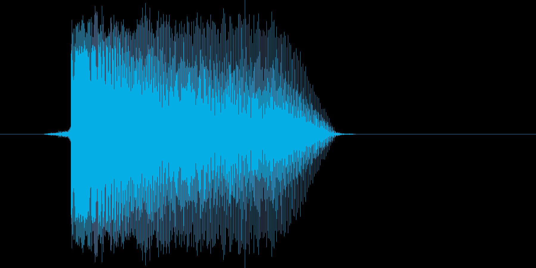 ゲーム(ファミコン風)レーザー音_018の再生済みの波形