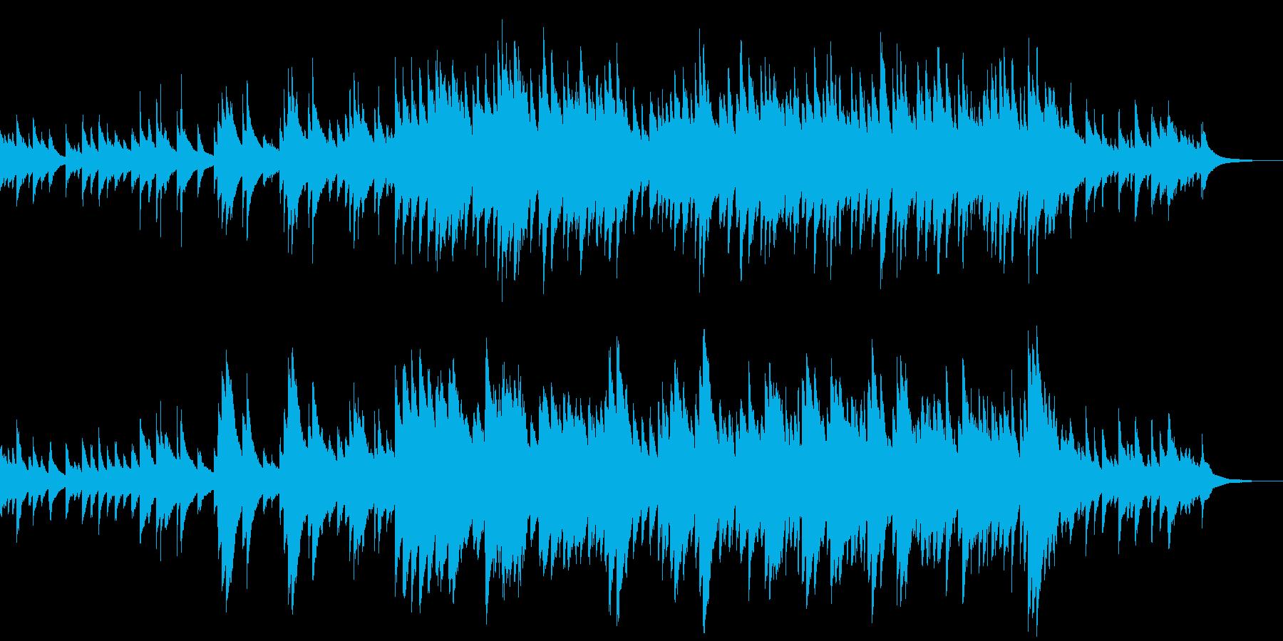 赤ちゃん メモリアル 癒しのオルゴール曲の再生済みの波形