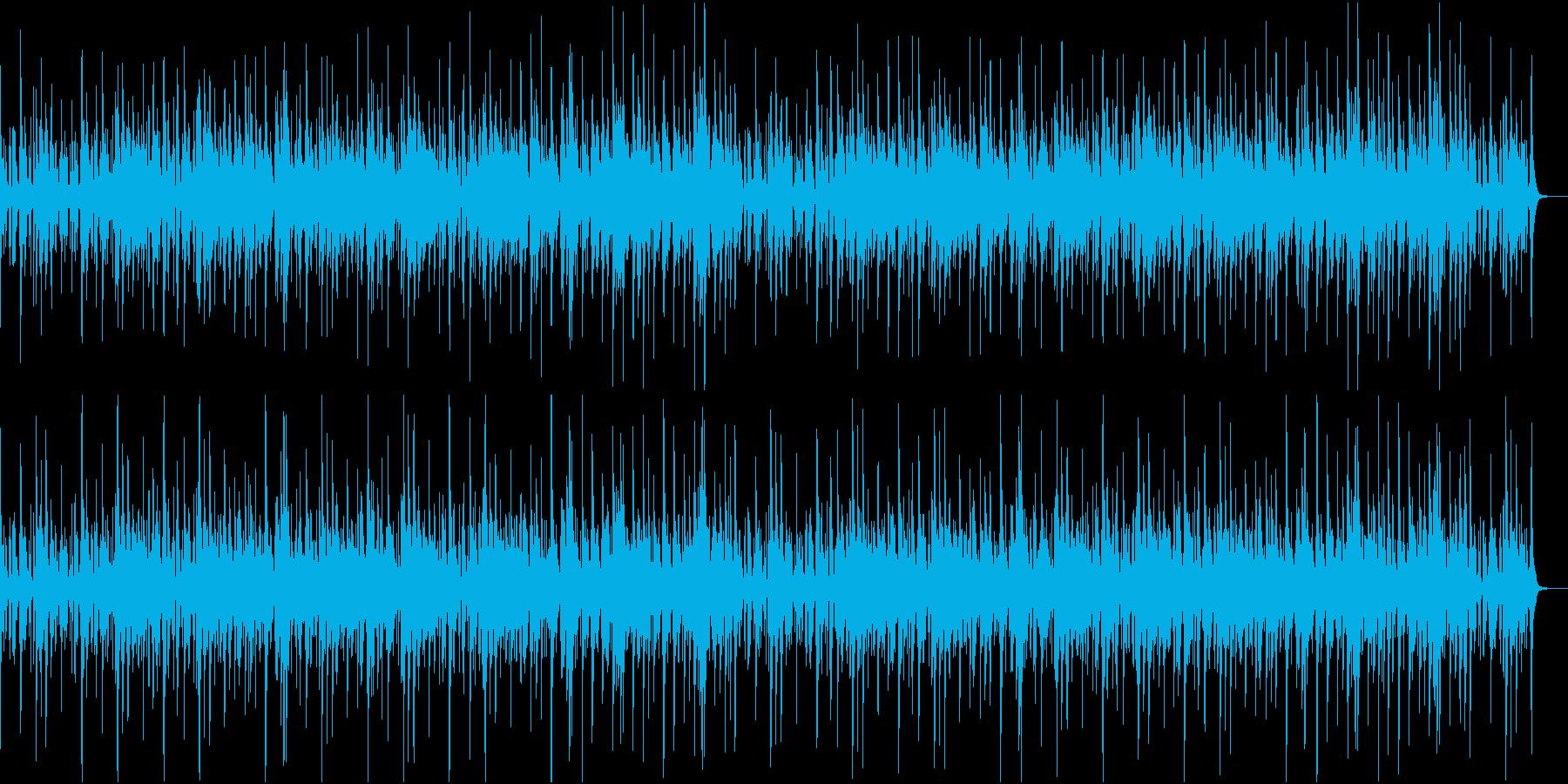 ラテン風でゆったりしたジャズの再生済みの波形