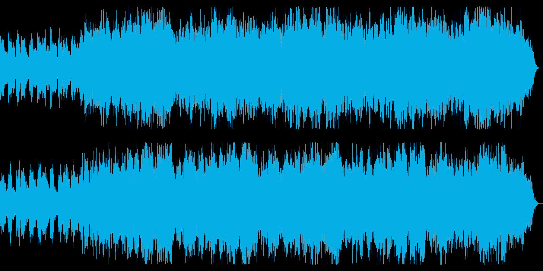 恐怖の領域 緊張感を演出するダークな曲の再生済みの波形