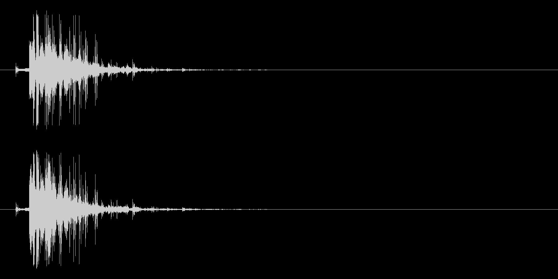 効果音、コイン①, チャリーン、小銭、…の未再生の波形