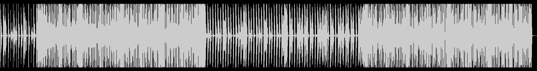 賑やかなディスコの未再生の波形