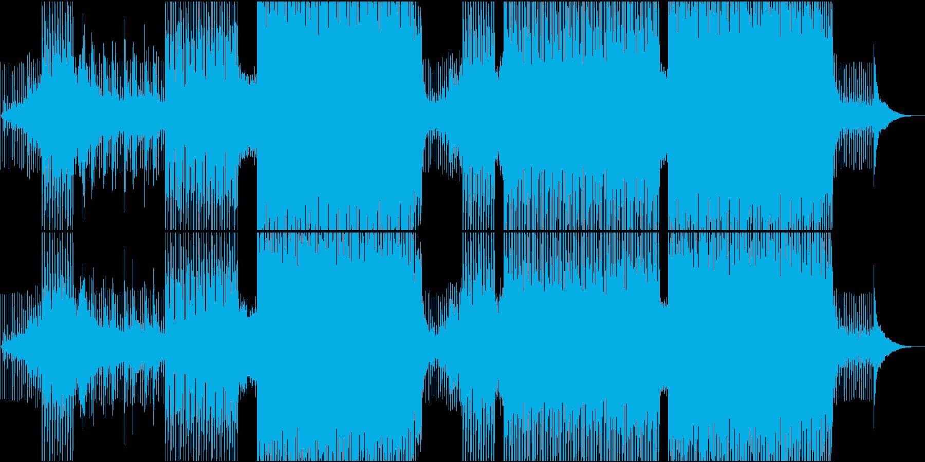 トロピカル調の優しくゆったりしたEDMの再生済みの波形