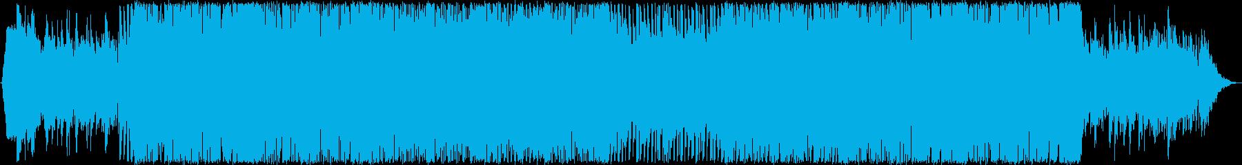 ピアノ・ブラス・華やかダンスポップBGMの再生済みの波形