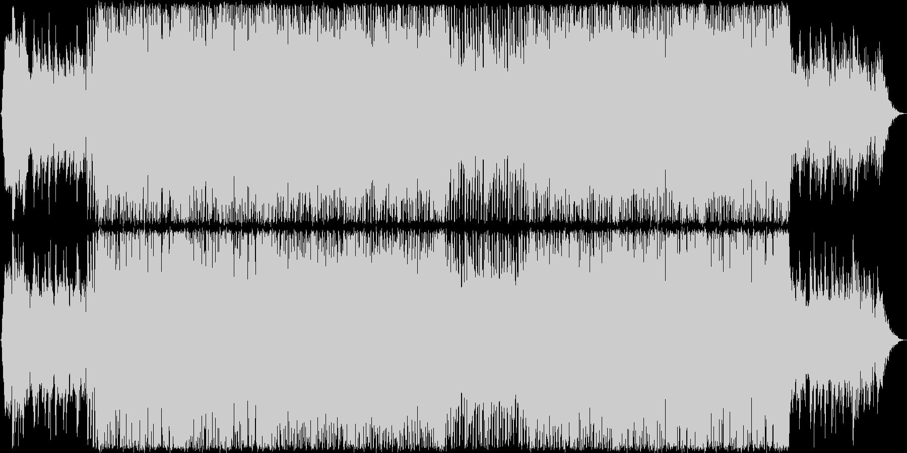 ピアノ・ブラス・華やかダンスポップBGMの未再生の波形