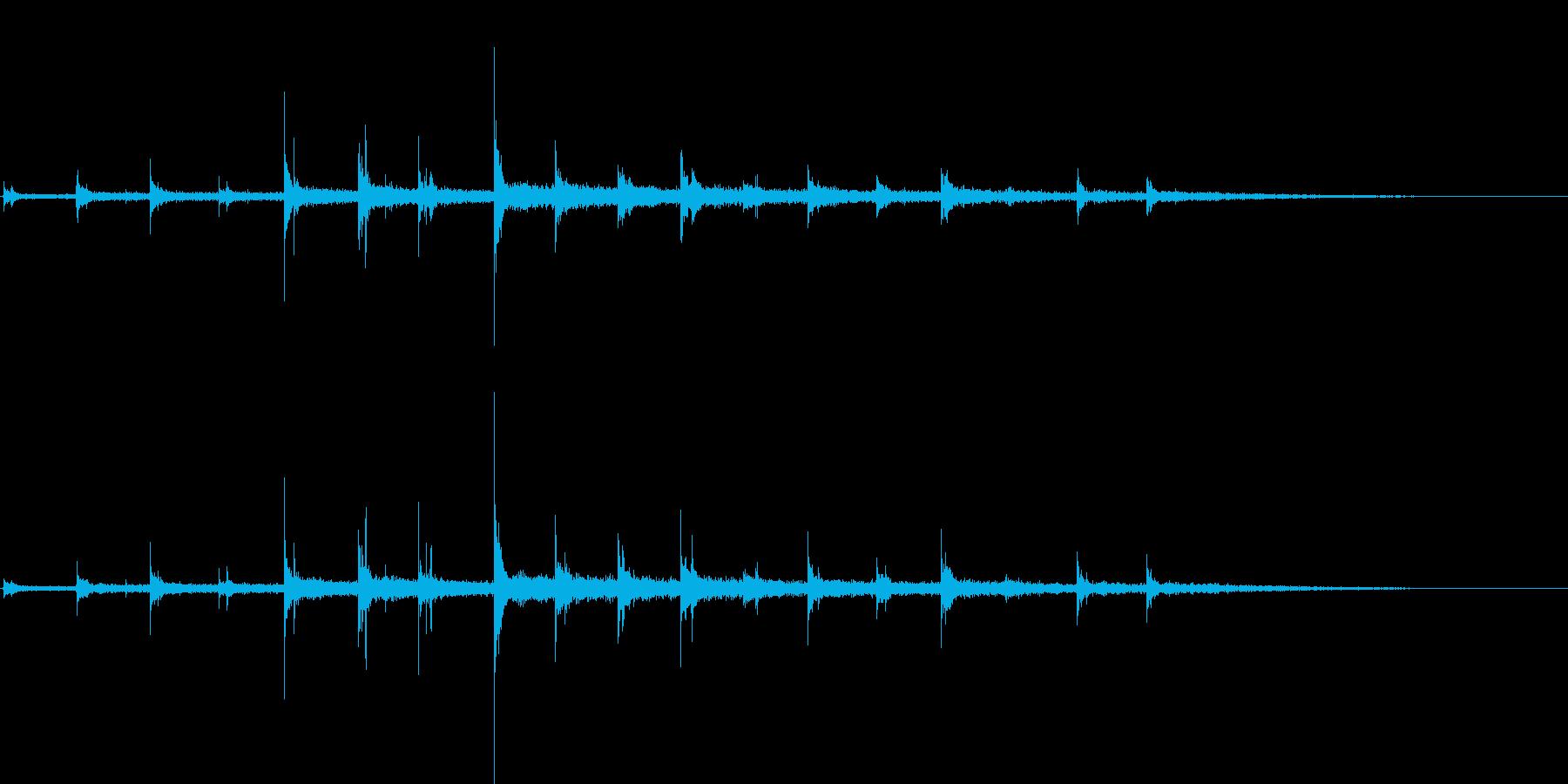 近づいてくる足音の再生済みの波形