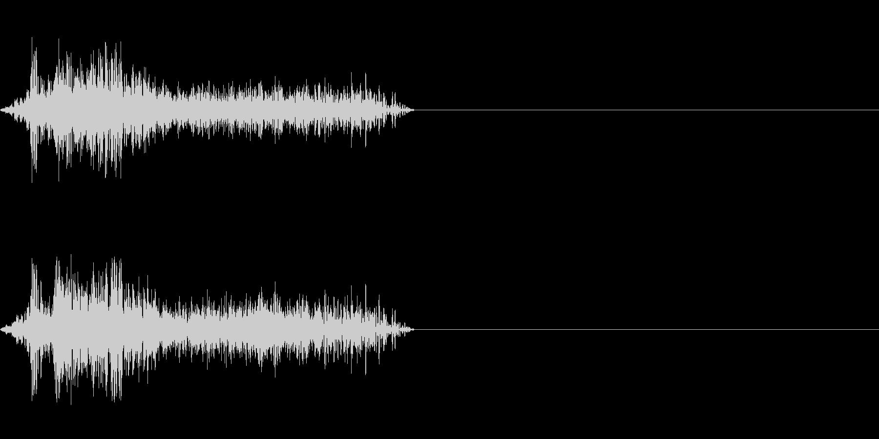 ビーム ワンショット6の未再生の波形