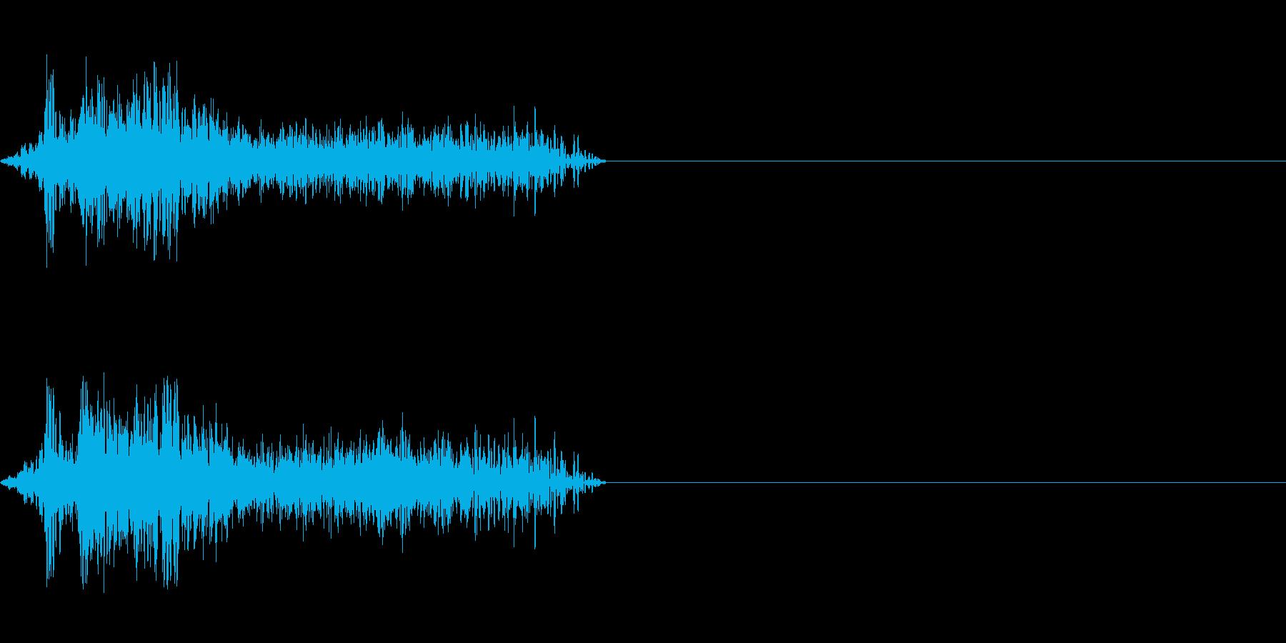 ビーム ワンショット6の再生済みの波形